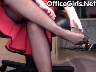 giant boobs mom secretary in stockings