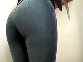 office milf farting